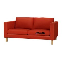 Ikea Karlstad Sofa Covers Uk European Leather Sectional Sofas 2 Seat Loveseat Slipcover Cover Korndal Red