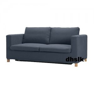 ikea karlanda sofa covers uk leatherette bed slipcover cover lindris dark blue bezug
