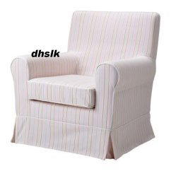 Ikea Tullsta Chair Covers Uk Mity Lite Cart Ektorp Jennylund Armchair Slipcover Cover Kareby Pink Candy Stripes