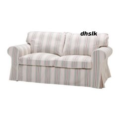 Ikea White Slipcover Sofa Ralph Lauren Tufted Leather Chesterfield Ektorp 2 Seat Cover Sigsta Pink Stripes Bezug ...