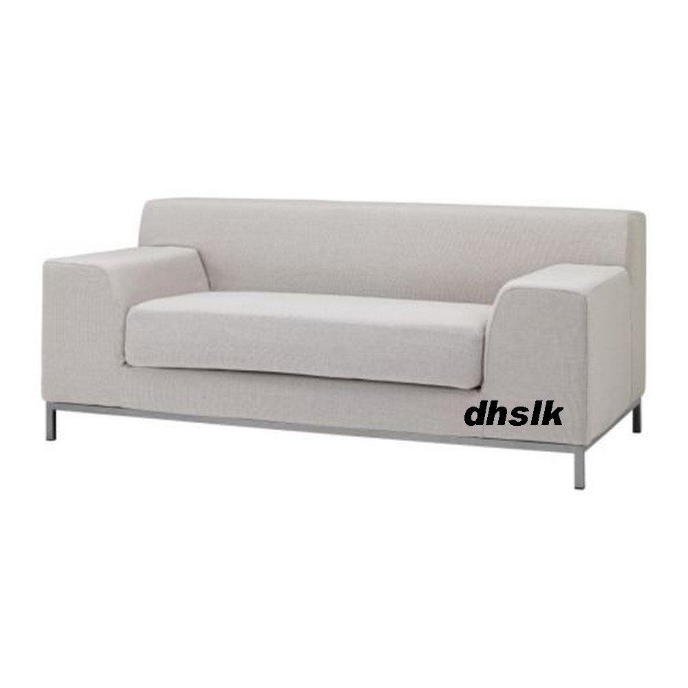 gray linen sofa slipcover corner beds london ikea kramfors 2 seat cover risede blue ...