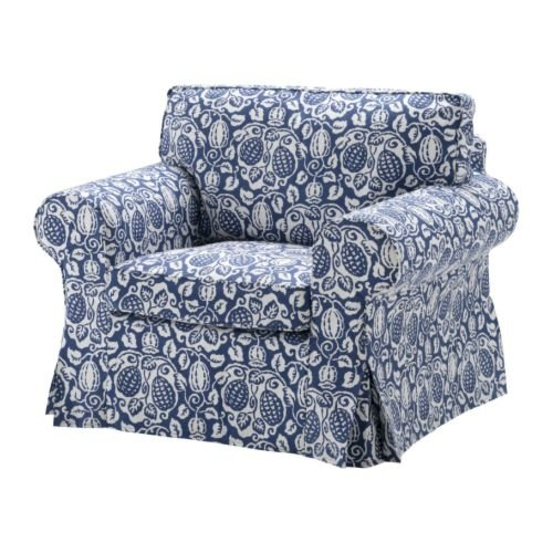 chair covers ikea uk dark teal accent ektorp armchair cover klintbo blue slipcover floral bezug