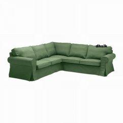 Ikea Sectional Sofa Covers Fold Down Sleeper Ektorp 2 432 Corner Cover Slipcover Svanby Green