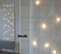IKEA KALLT WALL DECORATION 40 Bulbs WHITE XMAS Fabric LED