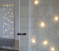 IKEA KALLT WALL DECORATION 40 Bulbs WHITE XMAS Fabric LED ...