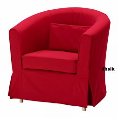 Ikea Tullsta Chair Covers Uk Vintage School Desk And Ektorp Armchair Slipcover Cover Idemo Red Bezug