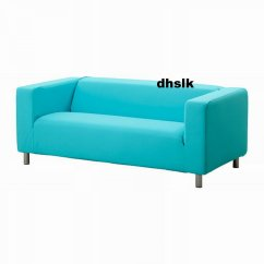 Klippan Sofa Ikea Uk Fizz Foam Fold Out Bed Black Slipcover Cover Granan Turquoise Blue