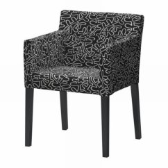 Ikea Nils Chair Covers Uk Leather W Armrests Slipcover Cover Eslov Black White