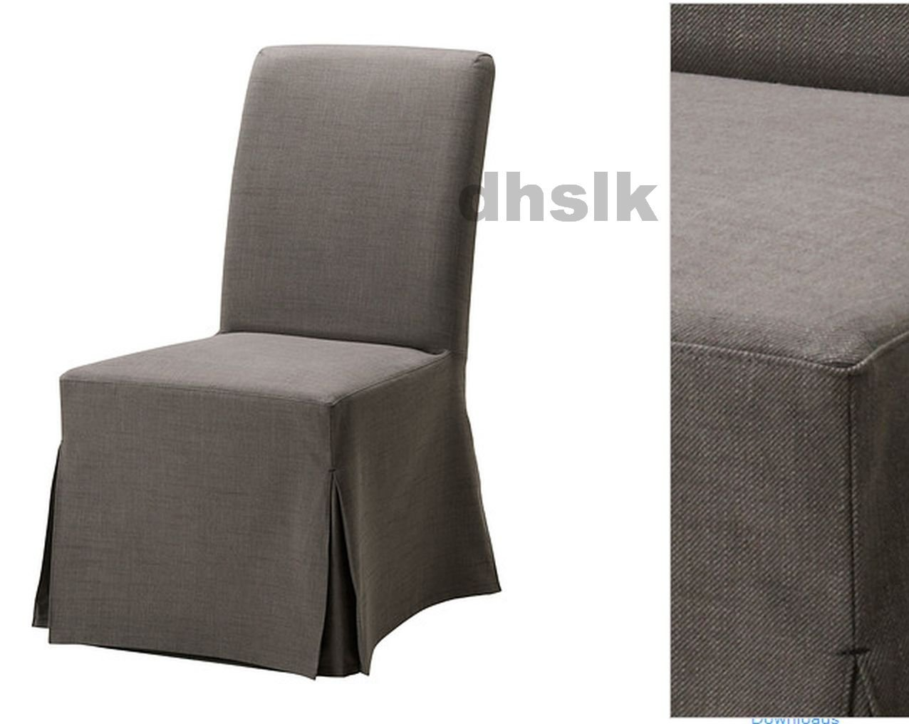ikea tullsta chair covers uk upright recliner chairs henriksdal slipcover cover skirted svanby gray