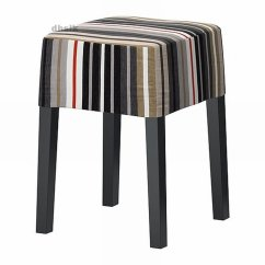 Nils Chair Cover Ergonomic Folding Chairs Ikea Footstool Slipcover Dillne Stripes Black Gray Beige Red White