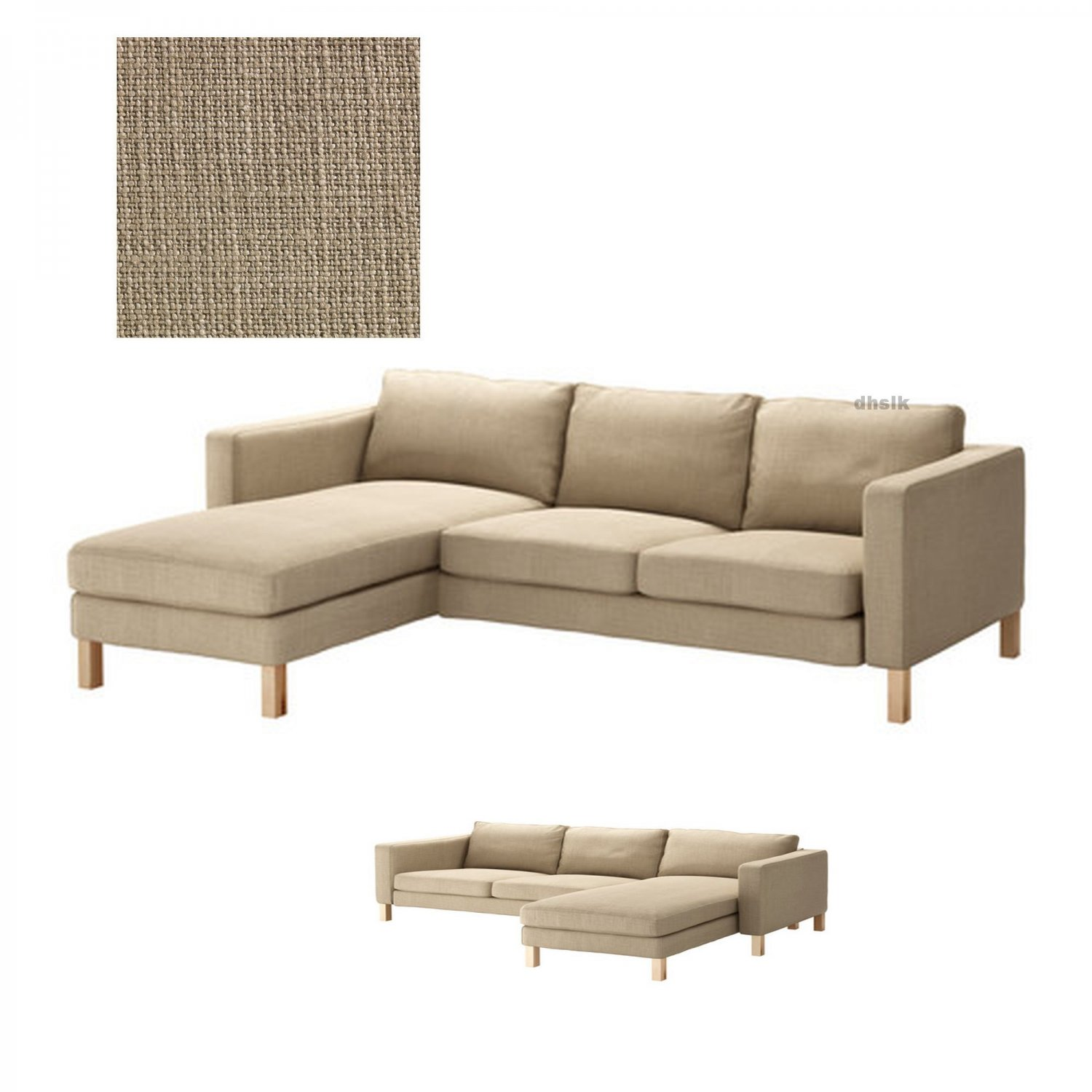 ikea sofa coverings scandinavian style sofas uk karlstad 2 seat loveseat and chaise slipcover