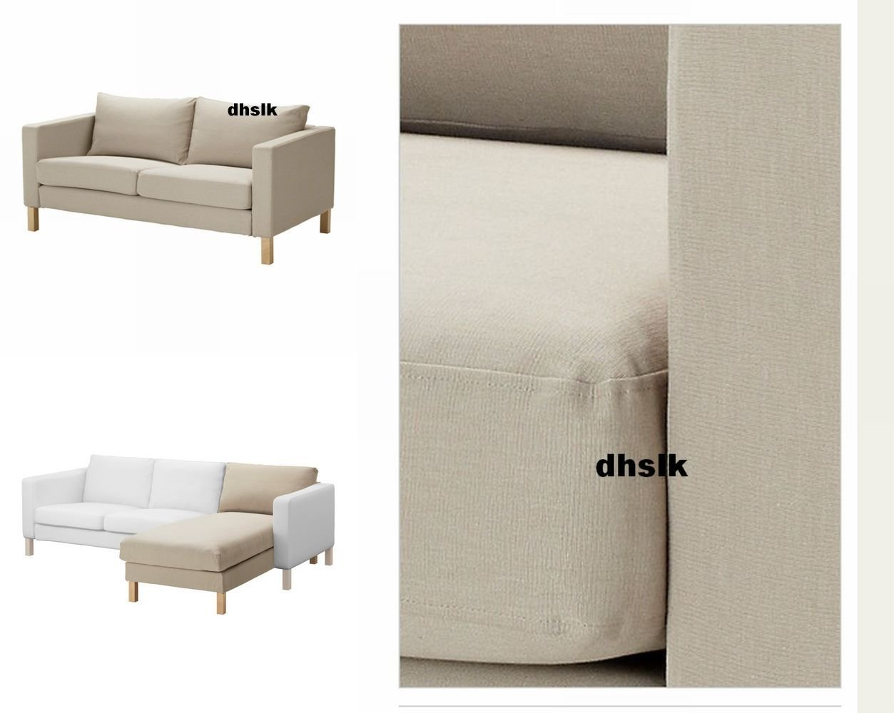 karlstad sofa cover uk tufted leather edmonton ikea 2 seat loveseat and chaise slipcover ...