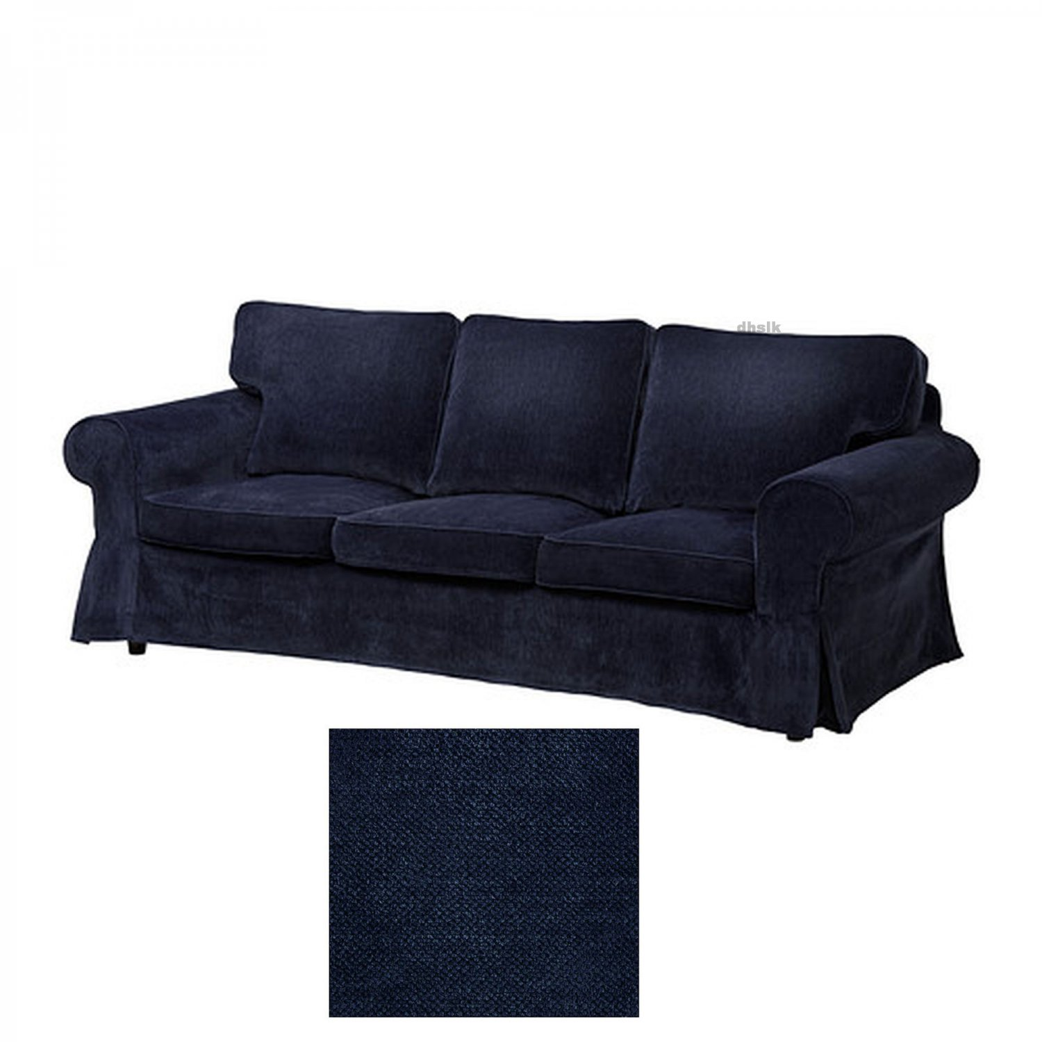 ikea karlanda sofa covers uk table behind couch ektorp 3 seat slipcover cover vellinge dark blue