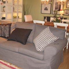 Gray Linen Sofa Slipcover Natuzzi Beds Canada Ikea Ektorp Loveseat W Chaise Cover Svanby