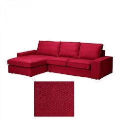 Ikea Red Sofa Covers How To Make Slipcovers At Home Kivik 2 Seat Loveseat W Chaise Lounge Slipcover