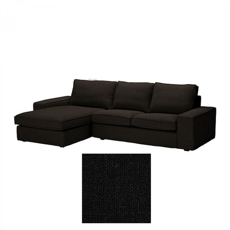 kivik sofa chaise 100 cotton sofas ikea 2 seat loveseat w longue slipcover