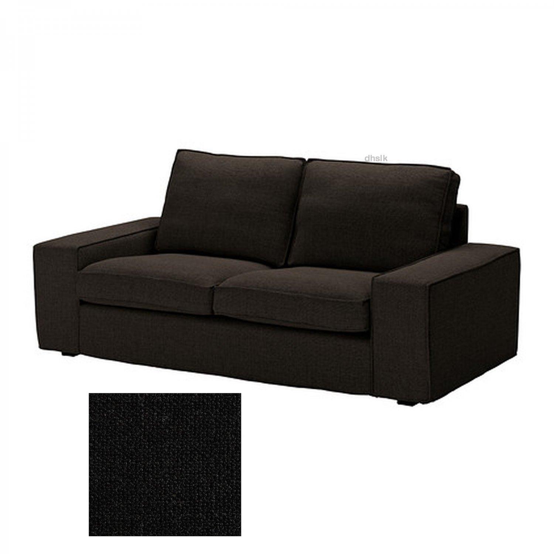 2 seat reclining sofa cover l shape ikea kivik loveseat slipcover teno black
