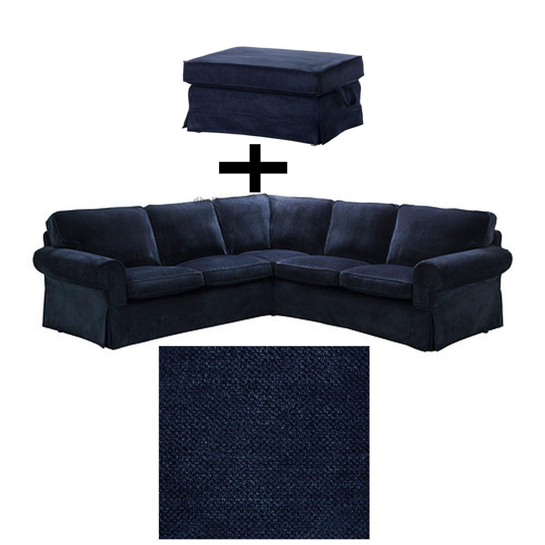 ikea rp corner sofa covers uk modern sofas los angeles ektorp 2 432 and bromma footstool cover