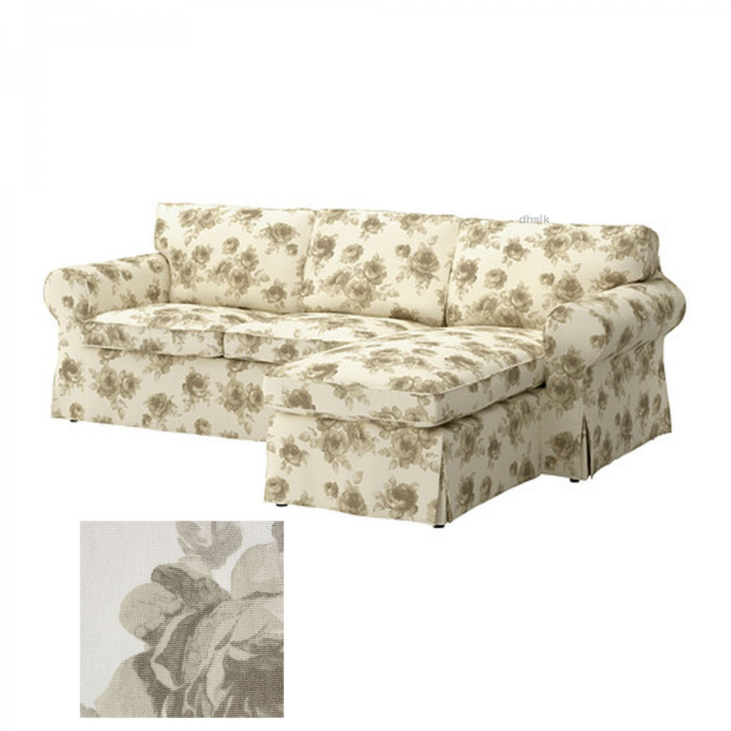 flower sofa covers for free in houston ikea ektorp 2 seat loveseat with chaise cover