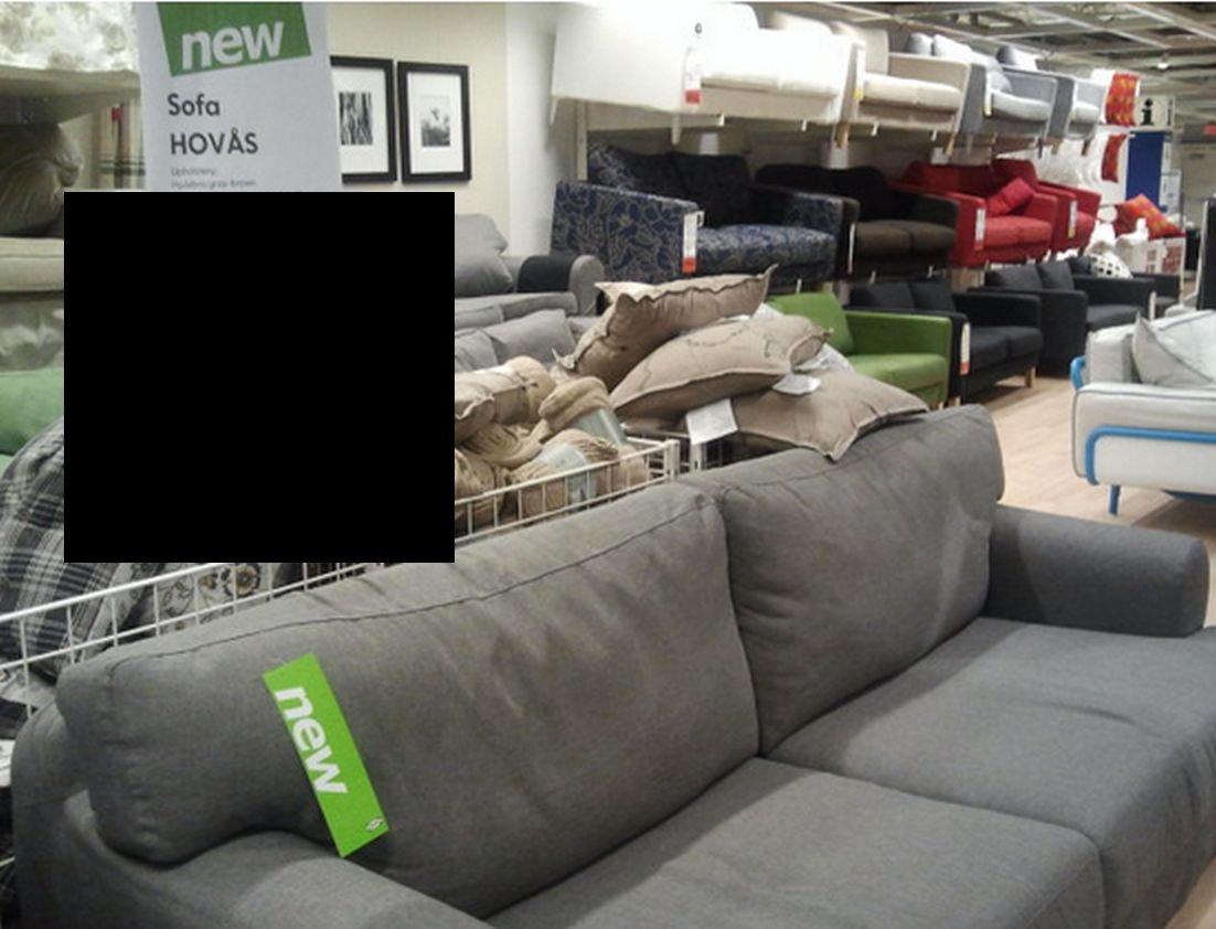 IKEA HOVÅS Hovas Sofa SLIPCOVER Cover HJULSBRO GRAY Grey
