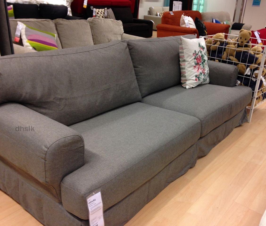 gray chair slipcover plycraft for sale ikea hovÅs hovas sofa cover hjulsbro grey