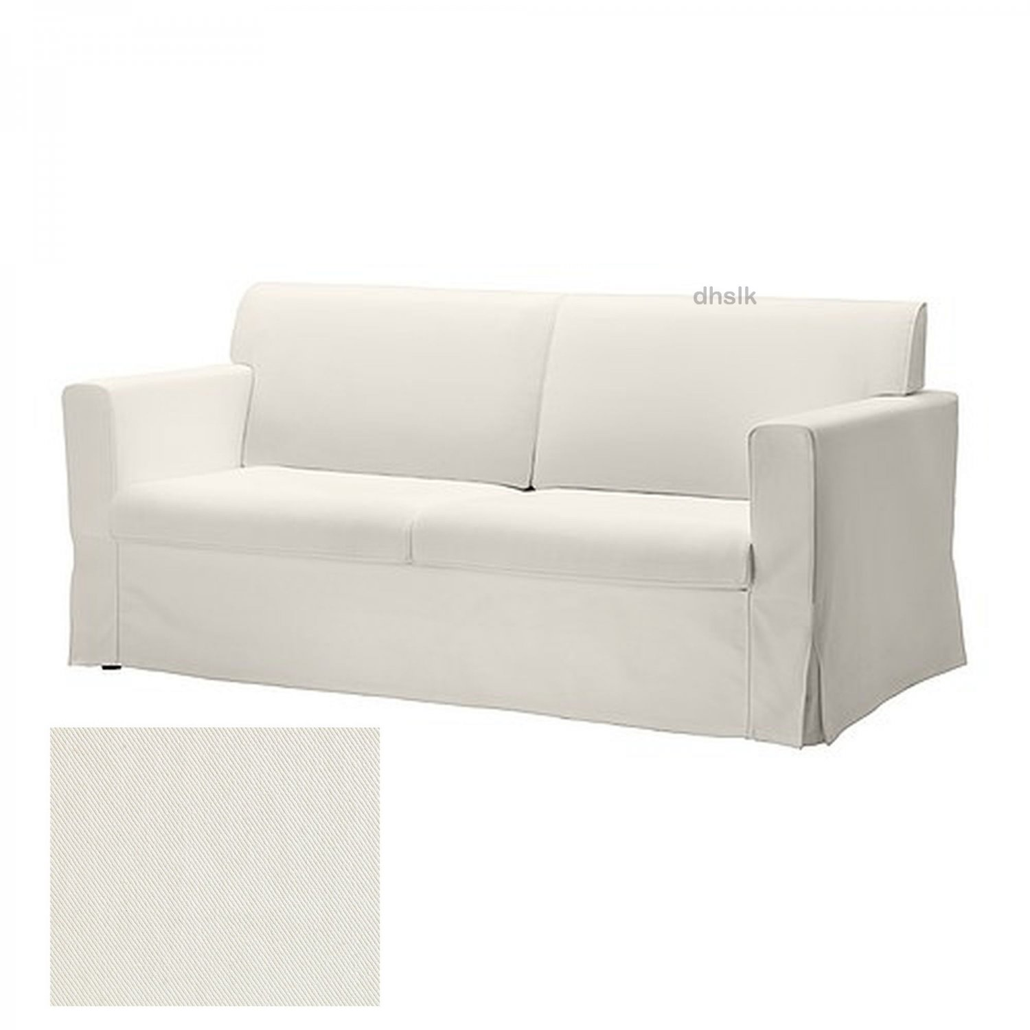 white sofa slipcover cotton wall art living rooms ikea sandby 3 seat cover blekinge