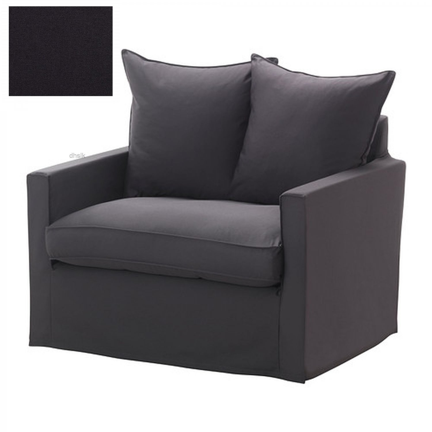 dark grey sofa cover faux leather paint ikea harnosand 1 seat chair slipcover armchair