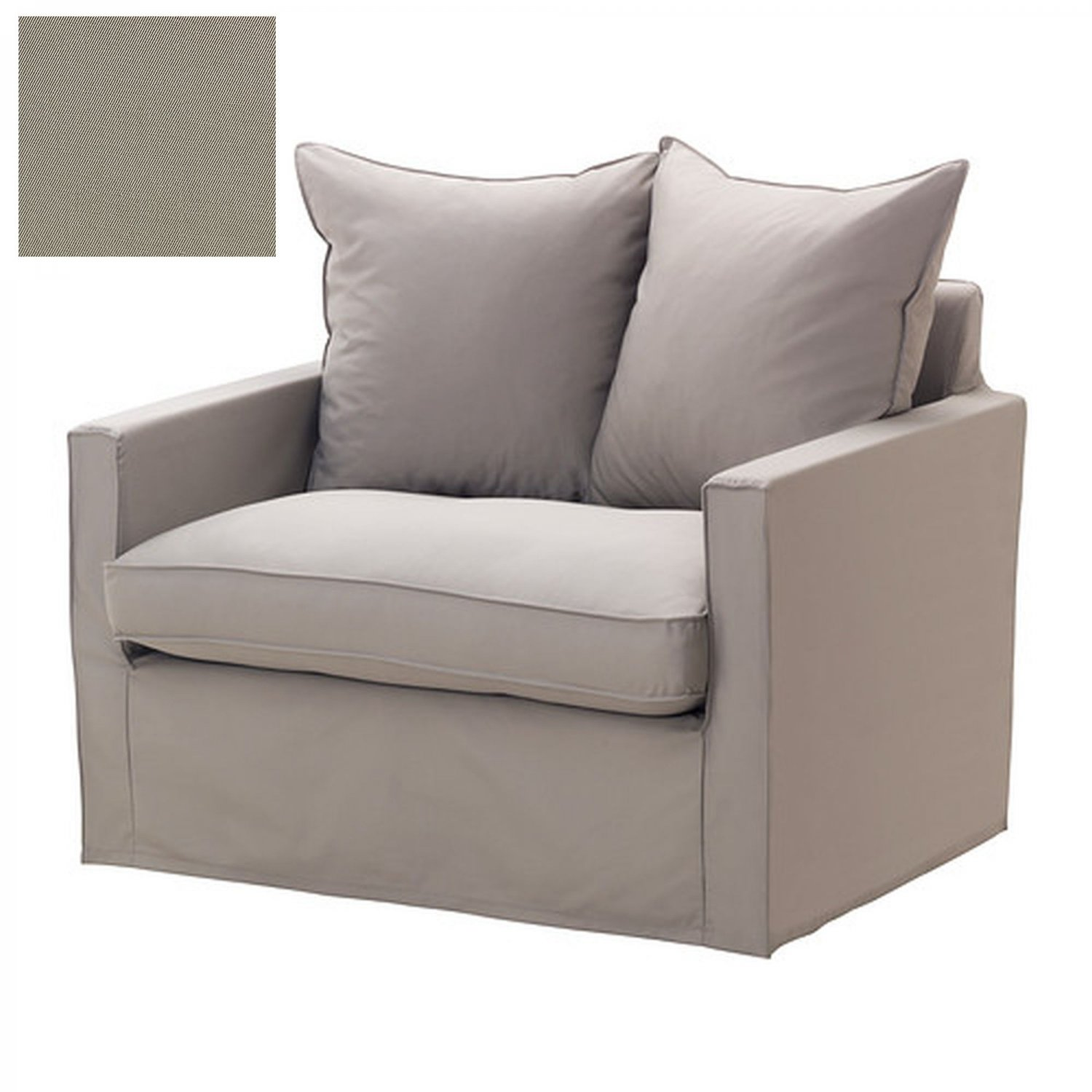 ikea reading chair wobble adhd harnosand 1 seat slipcover armchair cover