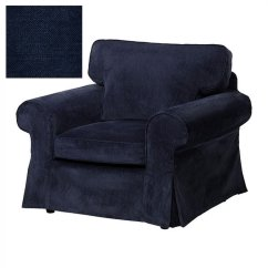 Ikea Jennylund Chair Covers Uk Retro Metal Patio Chairs Ektorp Armchair Slipcover Cover Vellinge Dark Blue