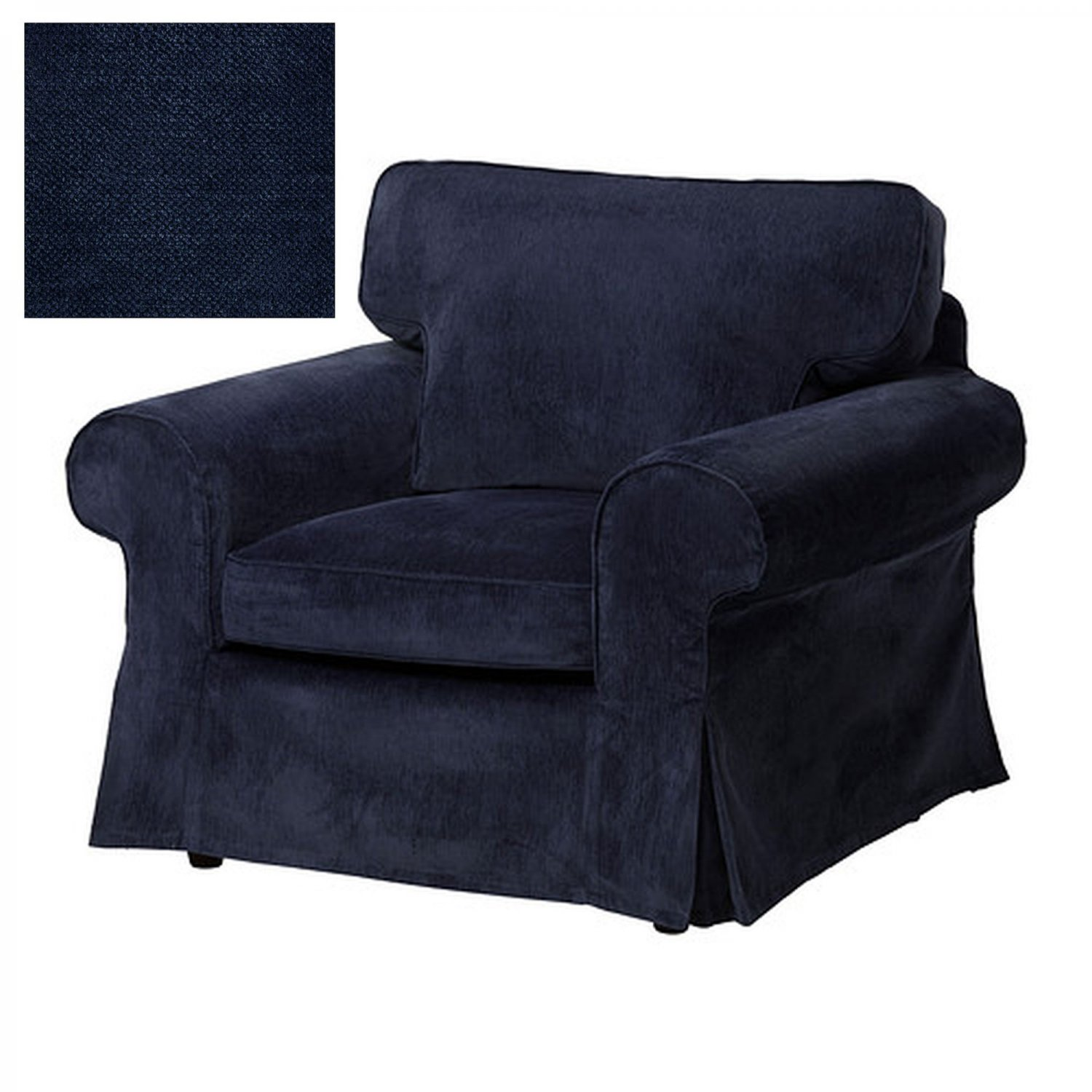ikea tullsta chair covers uk linenfold cover ektorp armchair slipcover vellinge dark blue