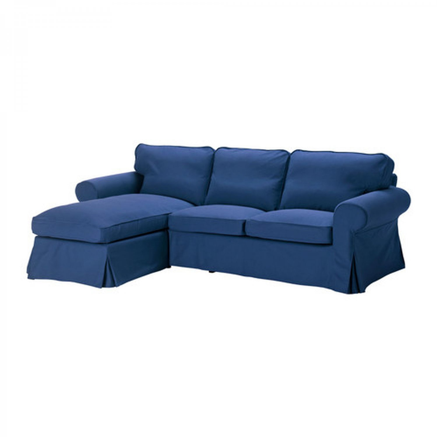 sofa bed chaise lounge ikea armless sectional sofas small es ektorp loveseat with cover slipcover