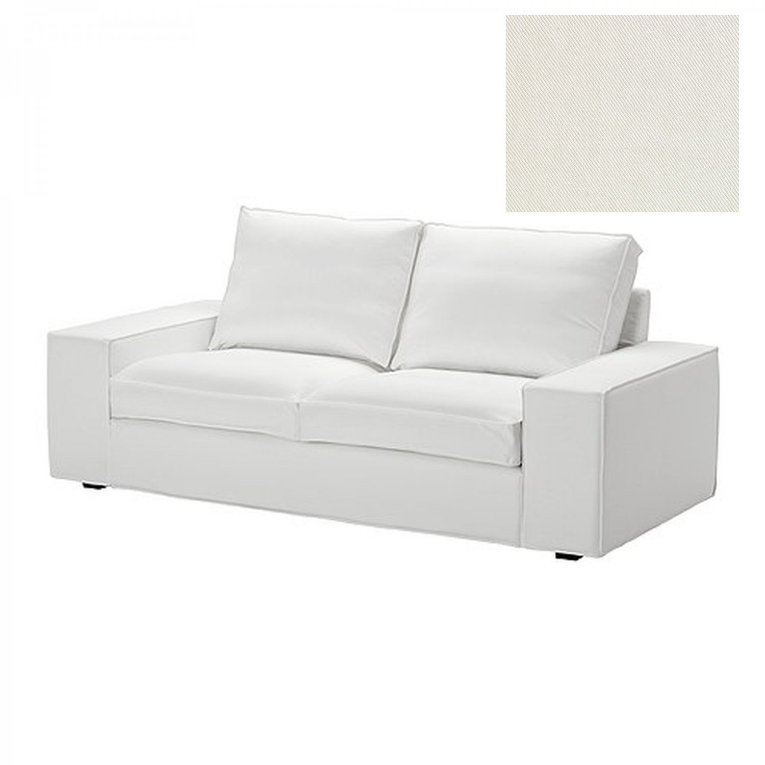 white sofa slipcover cotton rooms to go cindy crawford sleeper reviews ikea kivik 2 seat loveseat cover blekinge