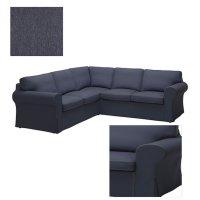 Ikea EKTORP 2+2 Corner Sofa COVER Slipcover JONSBODA BLUE ...