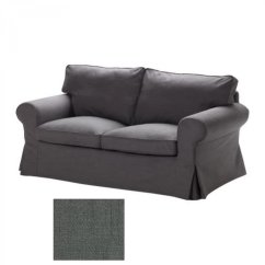 Gray Chair And Ottoman Slipcovers Black Glider Ikea Ektorp 2 Seat Sofa Slipcover Loveseat Cover Svanby