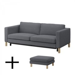 Sofa Bed Ikea Uk Kidney Shaped Karlstad And Footstool Slipcovers Sofabed