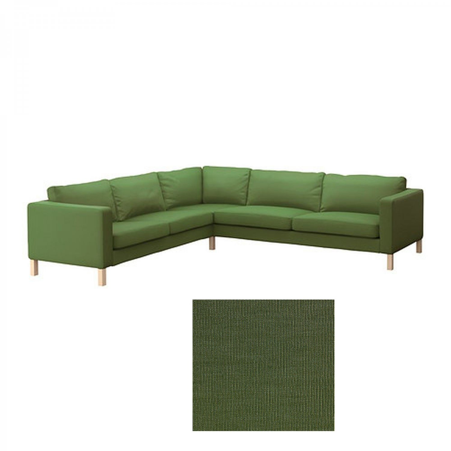 karlstad sofa cover uk room and board sofas sectionals ikea corner slipcover sivik green mid ...