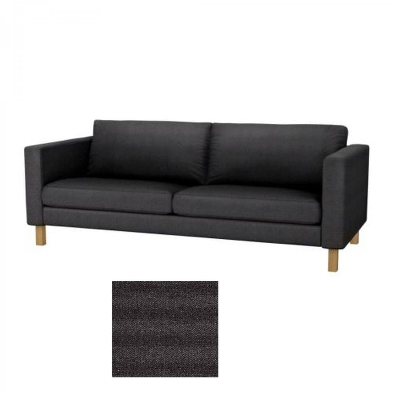 karlstad sofa bed cover grey jupiter brown leather sectional ikea 3 seat slipcover sivik dark gray
