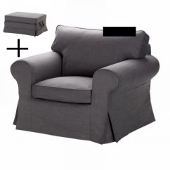 Ikea Chair With Ottoman Broda Indications Ektorp Armchair And Bromma Footstool Cover
