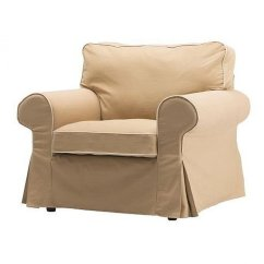 Wood Arm Chair Covers Outdoor Lounge Cushions New Ikea Ektorp Armchair Slipcover Cover Idemo Beige W Piping