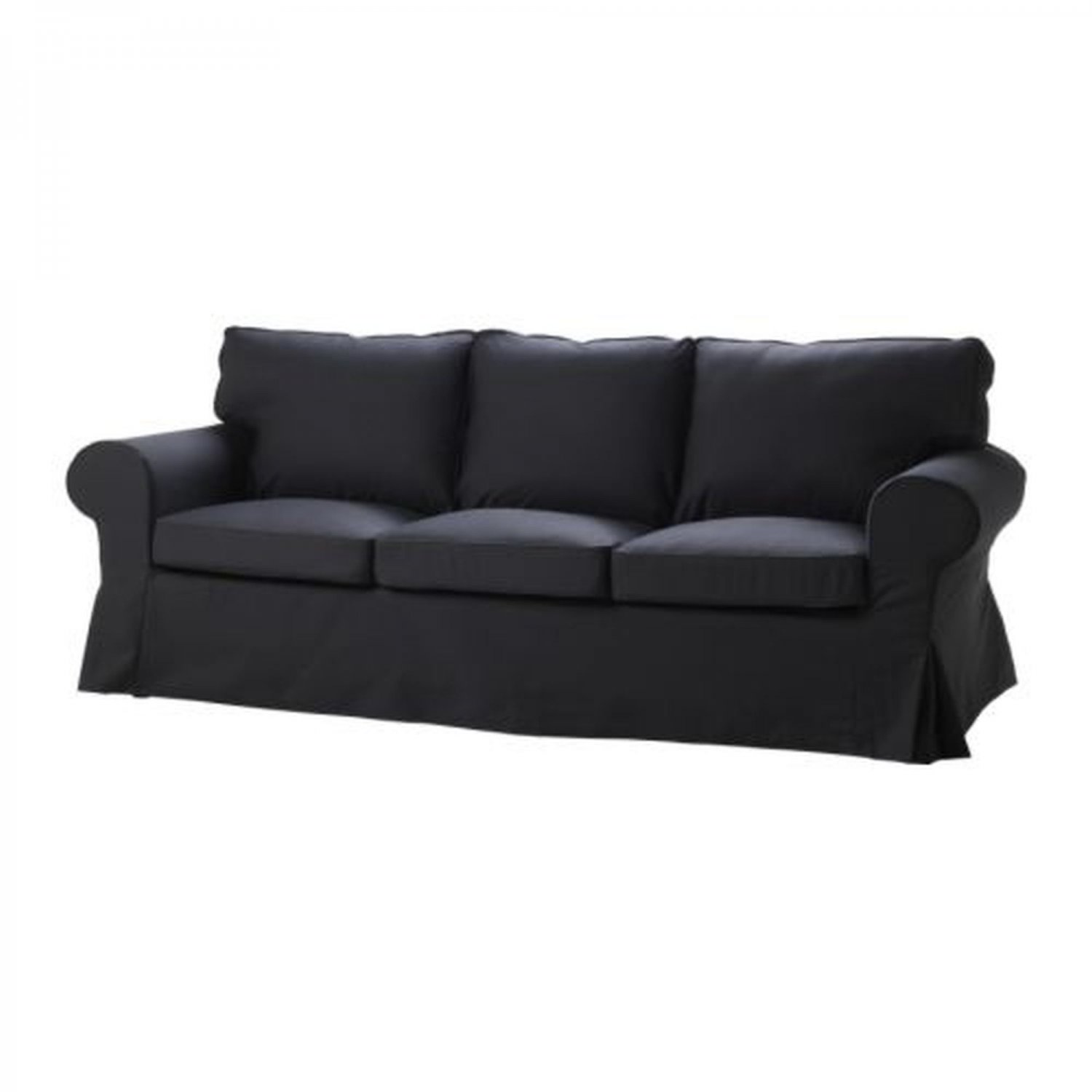 ikea karlanda sofa covers uk 2 seat bed with storage ektorp 3 slipcover cover idemo black cotton