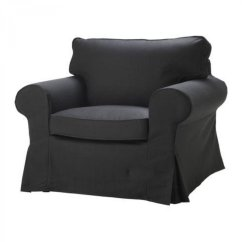 Ikea Jennylund Chair Covers Uk Leather Side Ektorp Armchair Slipcover Idemo Black Cover
