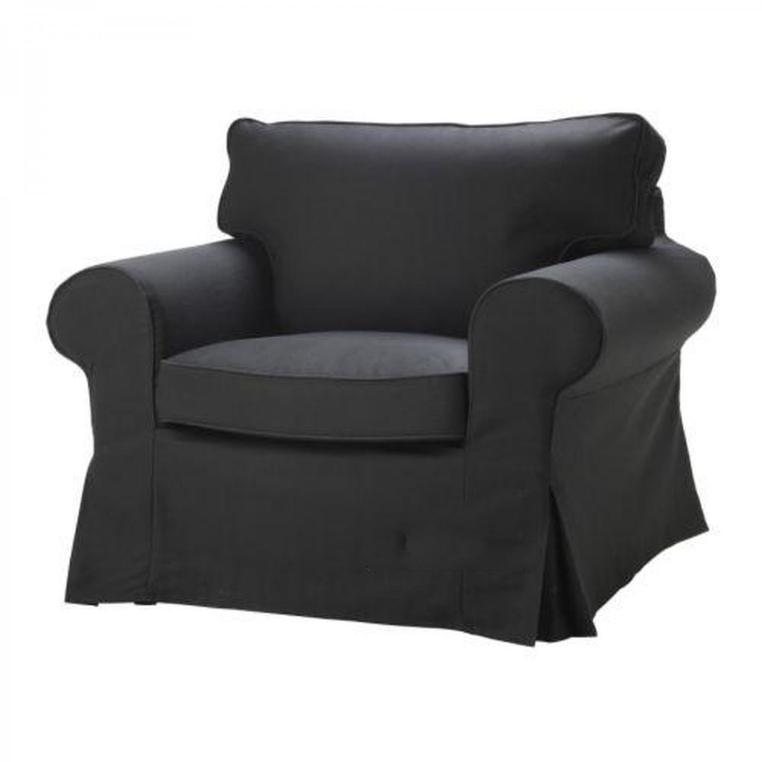 ikea arm chairs blue wing back chair ektorp armchair slipcover idemo black cover