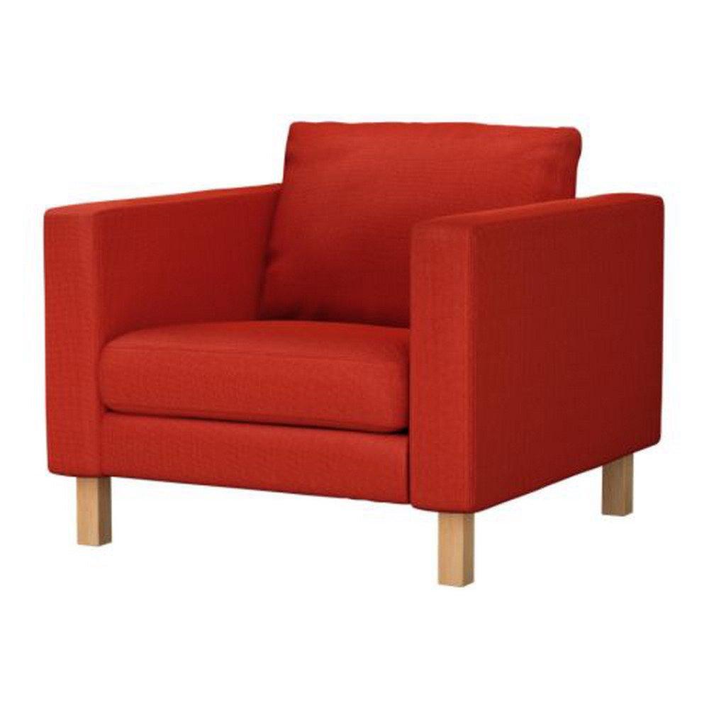 karlstad armchair cover uk hans wegner chairs ikea chair slipcover korndal red