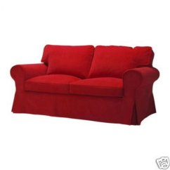 Ikea 4 Seater Sofa Cover Next Furniture Sofas And Chairs Ektorp 2 Seat Loveseat Slipcover Leaby Red