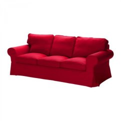 3 Seater Sofa Cover Minotti Second Hand Ikea Ektorp Seat Slipcover Idemo Red