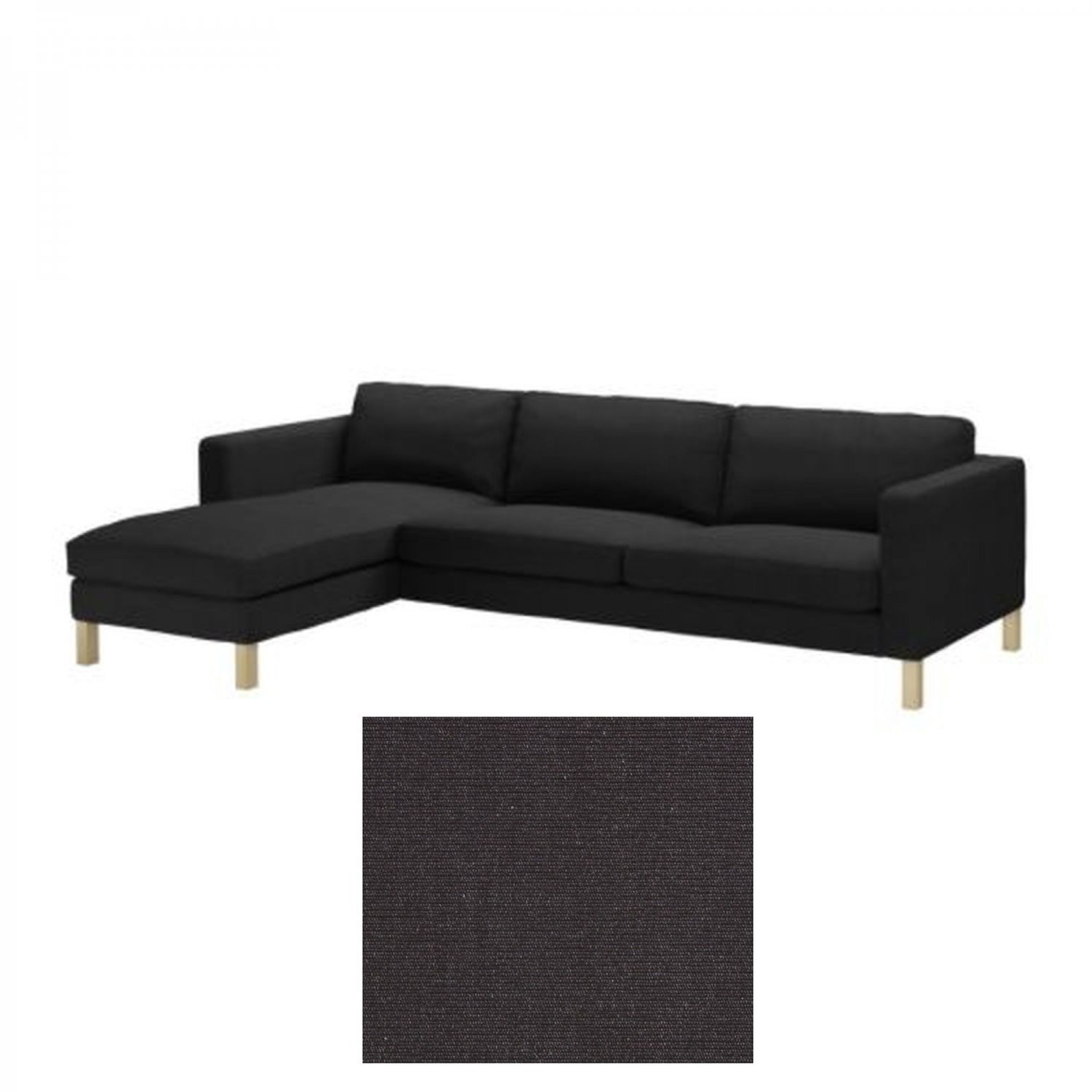karlstad sofa cover uk roche bobois sofas ireland ikea 3 seat and chaise slipcover sivik