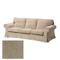 Sofa Chair Covers Ikea Or Wedding Ektorp 3 Seat Slipcover Cover Vellinge Beige