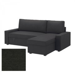 Gray Chair And Ottoman Slipcovers Reclining Theaters Ikea Vilasund Sofa Bed With Chaise Longue Slipcover