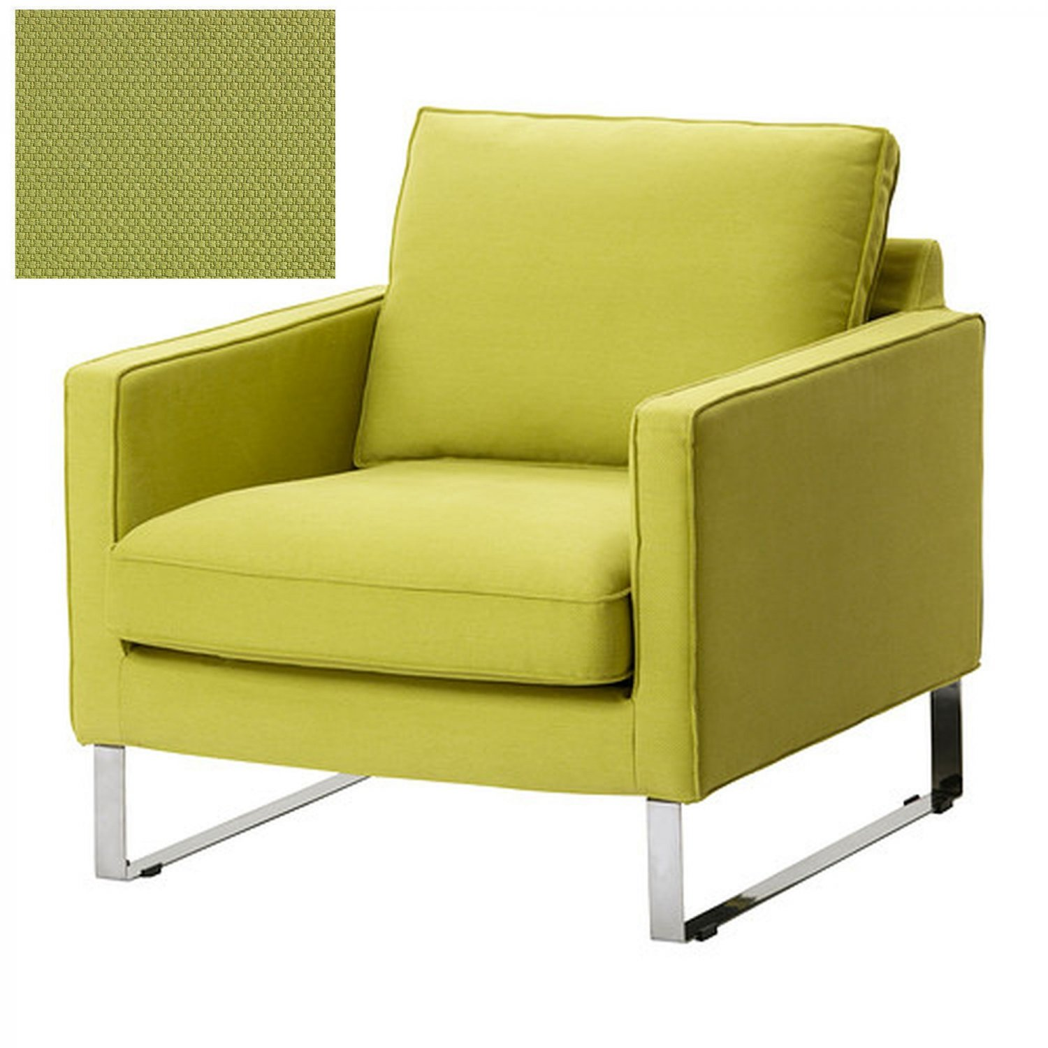 Green Chair Covers Ikea Mellby Armchair Slipcover Chair Cover Dansby Yellow