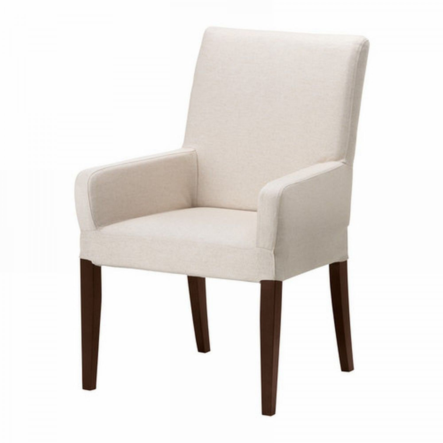 ikea dining table chair covers office chairs at target henriksdal w arms slipcover cover 21 quot 54cm